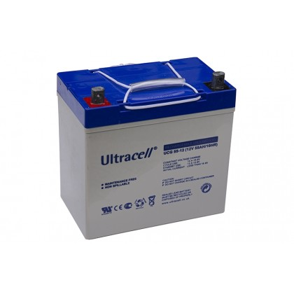 ULTRACELL 12V 55Ah GEL akumuliatorius